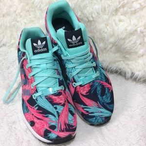 adidas Shoes - New Adidas  Navy Blue,Pink & Teal Shoes Sz 6.5